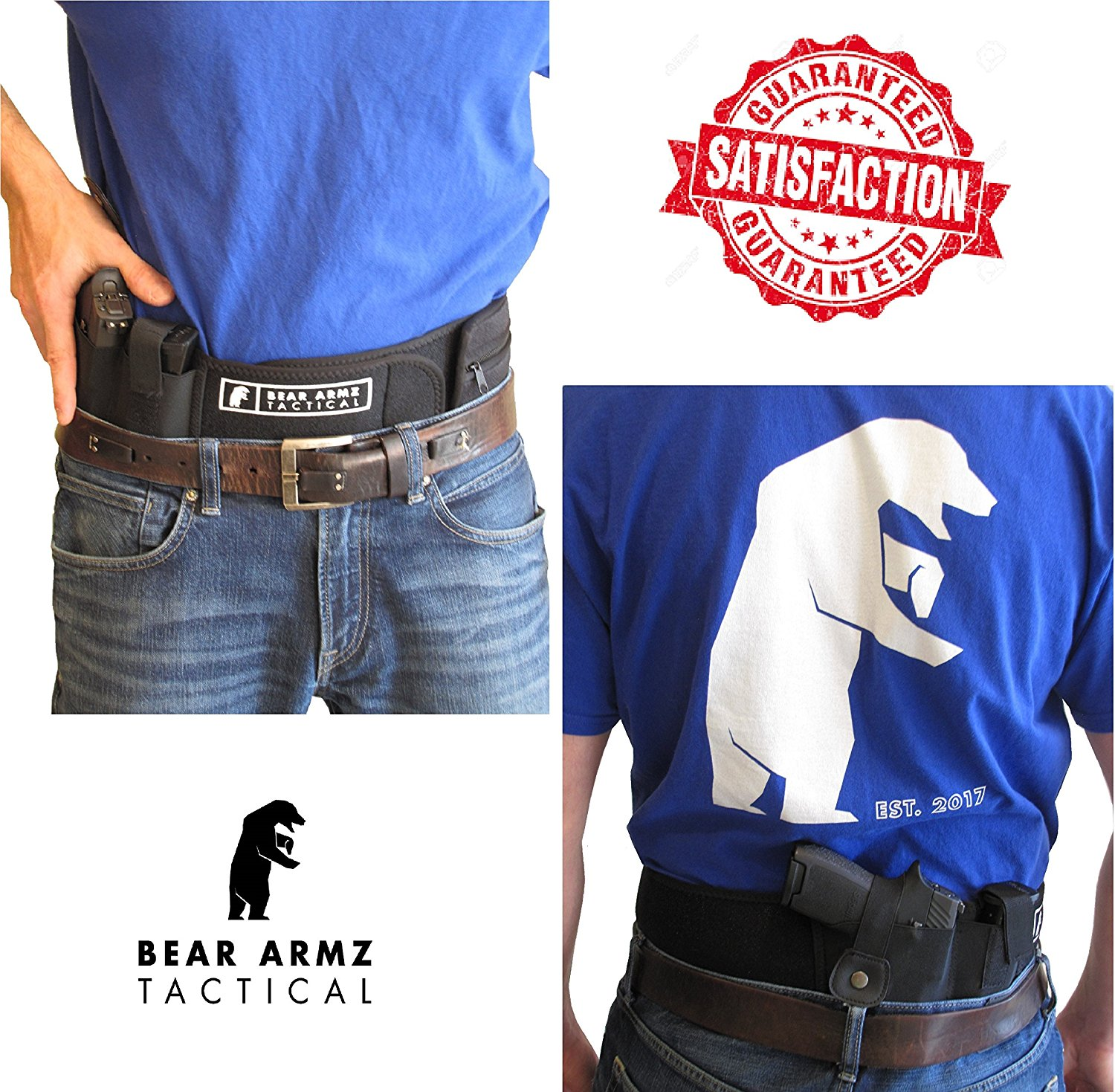 Sporttaschen & Rucksäcke Holster for Concealed Carry IWB Holster Waist Band Handgun Carrying System  VJ